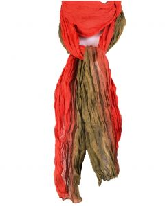 Crushed katoenen tie + dye sjaal