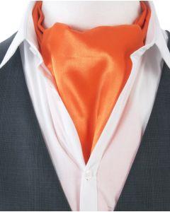 Oranje satijnen Ascot Cravat choker sjaal