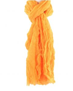 Licht-oranje luchtige crushed sjaal