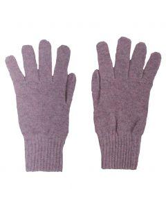 Fijn gebreide oudroze 100% kasjmier handschoenen
