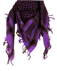 PLO sjaal / Arafat sjaal in zwart-paars