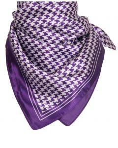 Paarse pied-de-poule sjaal