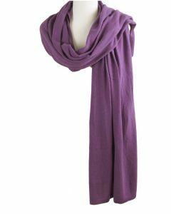 Kasjmier-blend sjaal/omslagdoek in violet