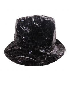 Zwart regenhoedje met panterprint