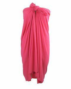 Effen rekbare hardroze sarong