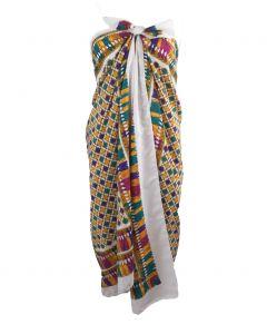 Pareo gemaakt van twee retro sjaals