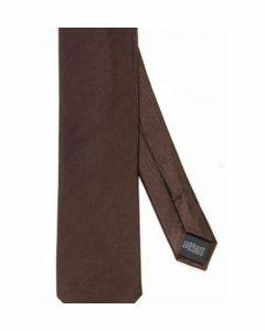 Donkerbruine zijden stropdas