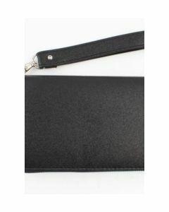 Zwarte zip-around portemonnee