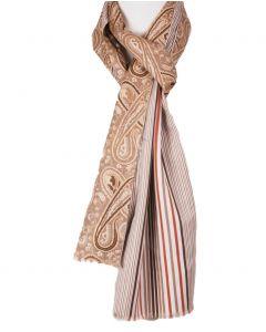 Klassieke paisley sjaal in bruin-tinten
