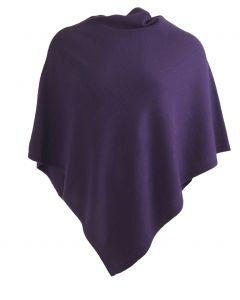 Kasjmier-blend poncho in paars