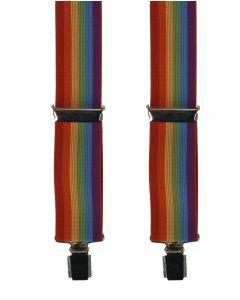 Bretels met regenboog print