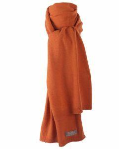 Oranje kasjmier-blend sjaal
