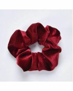 Velvet Scrunchie - Rood