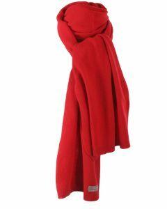 Rode kasjmier-blend sjaal