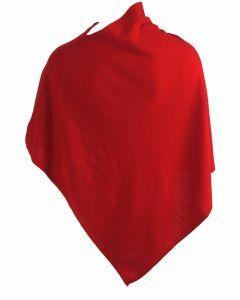 Kasjmier-blend poncho in rood