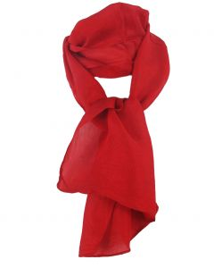 Zijden sjaaltje in effen rood