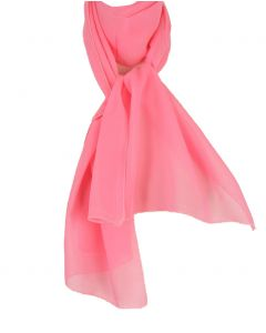 Roze sjaal crêpe voile sjaal