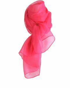 Hardroze effen voile sjaal