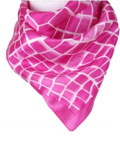 Vierkante zijden sjaal met giraffen-print