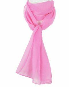Effen roze crêpe sjaaltje