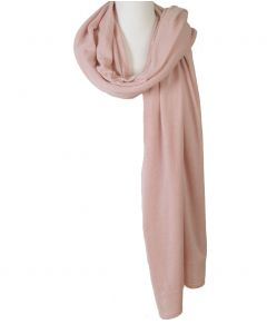Kasjmier-blend sjaal/omslagdoek in licht-oudroze