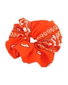Oranje boerenzakdoek scrunchie