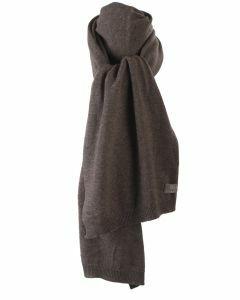 Kasjmier-blend sjaal in donker-taupe