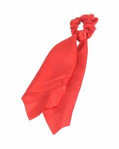 Rode scrunchie met lint