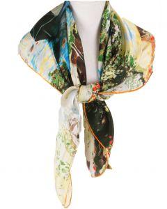 Zijden sjaal met diverse kunstwerken van '' Monet''