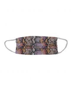 Katoenen mondkapje met slangenprint in roze