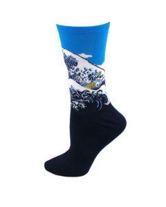 """Art sokken met """"De grote golf"""" van de Kanagawa"""