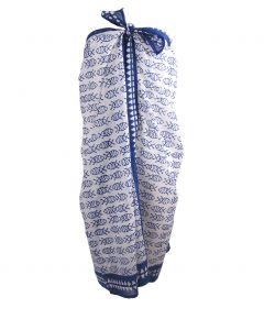 Katoenen sarong met visjes print