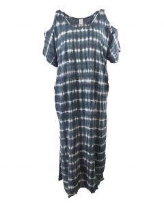 Strandjurk met batik streeppatroon