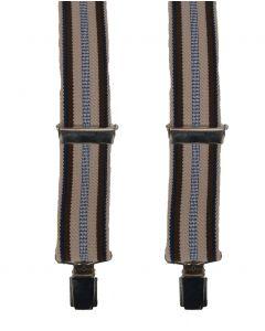 Bretels met beige & bruine streep