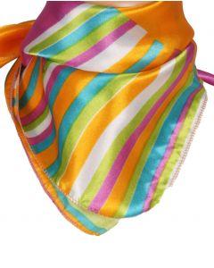 Vierkant sjaaltje met kleurrijke strepen