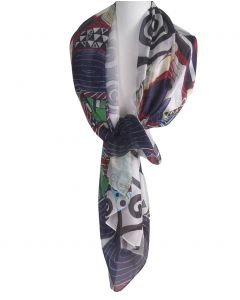 Zijden sjaal/stola met een schildering van ''Gustav Klimt''