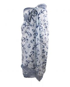 Witte sarong met ankerprint