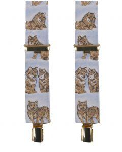 Bretels met wolven print