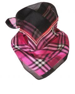 Cyclaam satijn zijden geruite sjaal