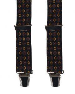 Zwarte bretels met mixed print