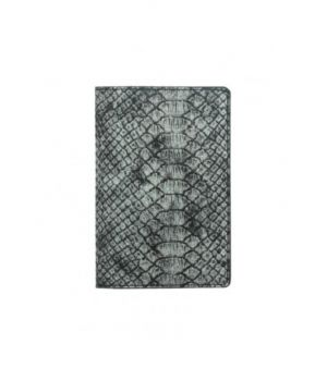 Zilver metallic krokodillen paspoorthoesje