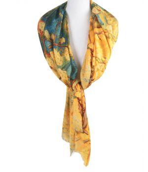 Schilderij-sjaal met afbeelding ''Bloeiend Perenboompje'' van Gogh