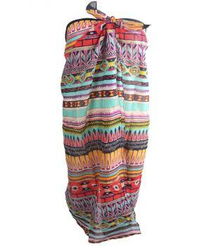 Katoenen sarong met Azteken print
