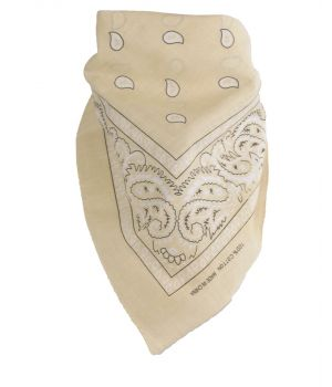 Boerenzakdoek / bandana in lichtbeige