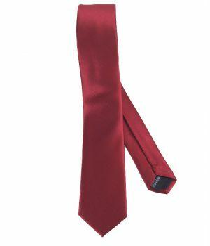Bordeaux rode zijde-blend stropdas