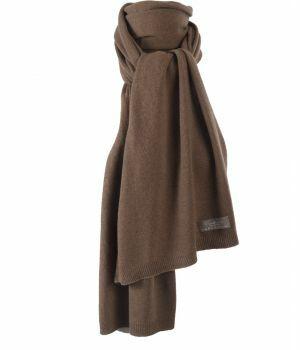 Kasjmier-blend sjaal in bruin