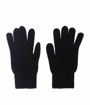 Fijn gebreide marineblauwe 100% kasjmier handschoenen