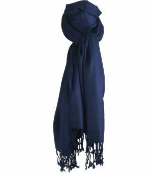 Donkerblauwe pashmina sjaal