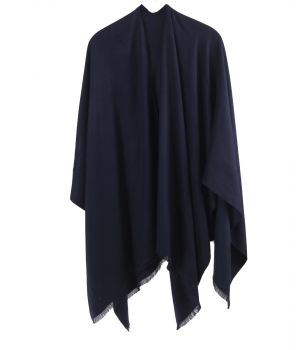 Effen omslagdoek in donkerblauw