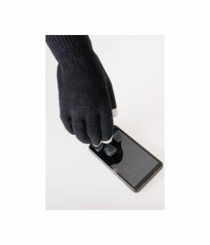 Zwarte iGloves Touchscreen handschoenen met Etip vingertoppen
